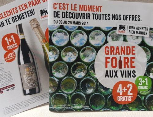 5 vins de la foire aux vins de Delhaize de mars 2017