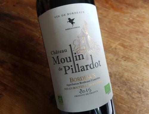 Château Moulin de Pillardot Bio 2015 – Bordeaux Rouge