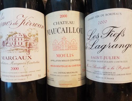 Des vins de bordeaux 2000 à maturité, tout simplement délicieux, sans être prétentieux