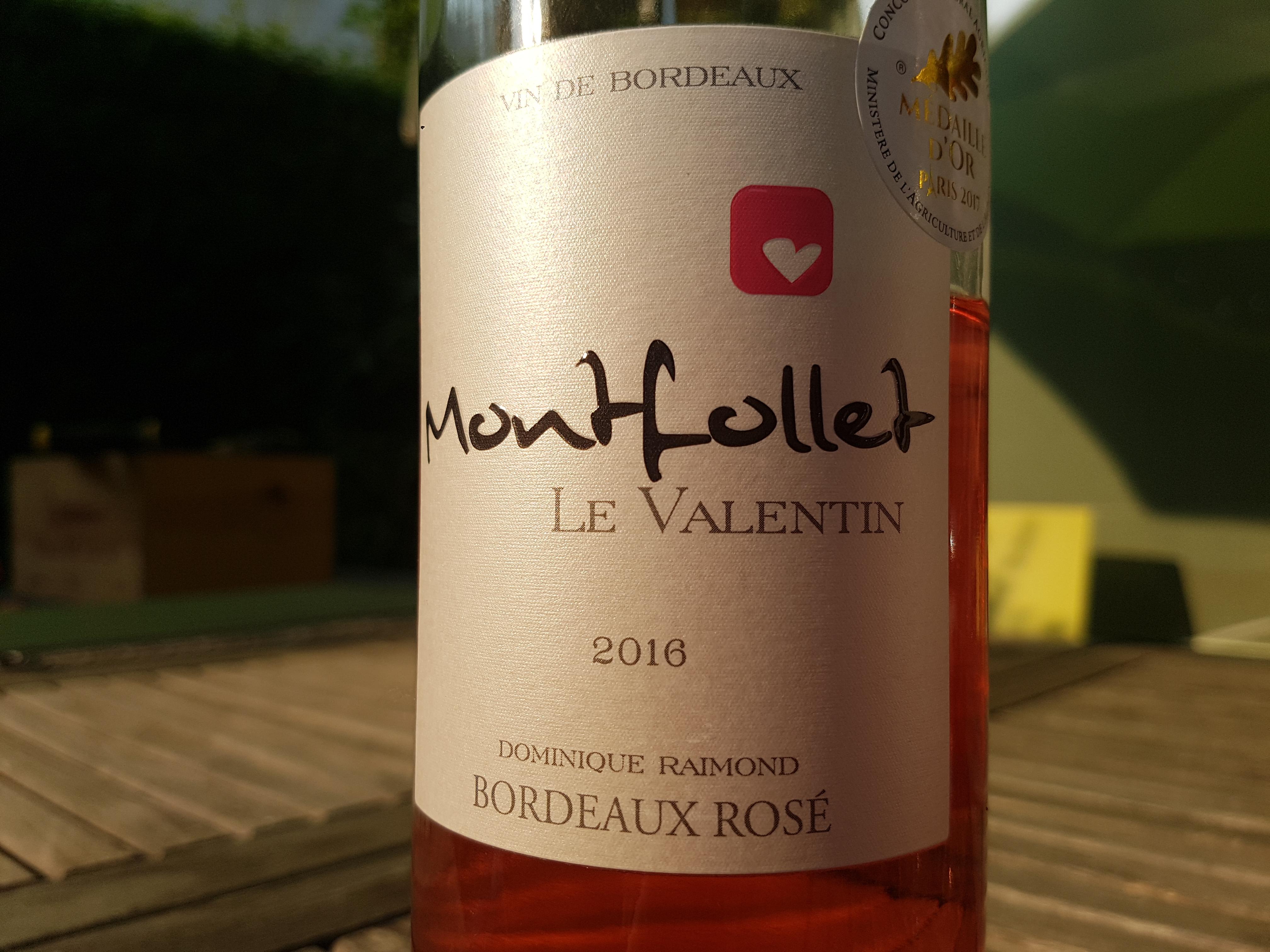 Château Montfollet Le Valentin Rosé 2019 – Bordeaux
