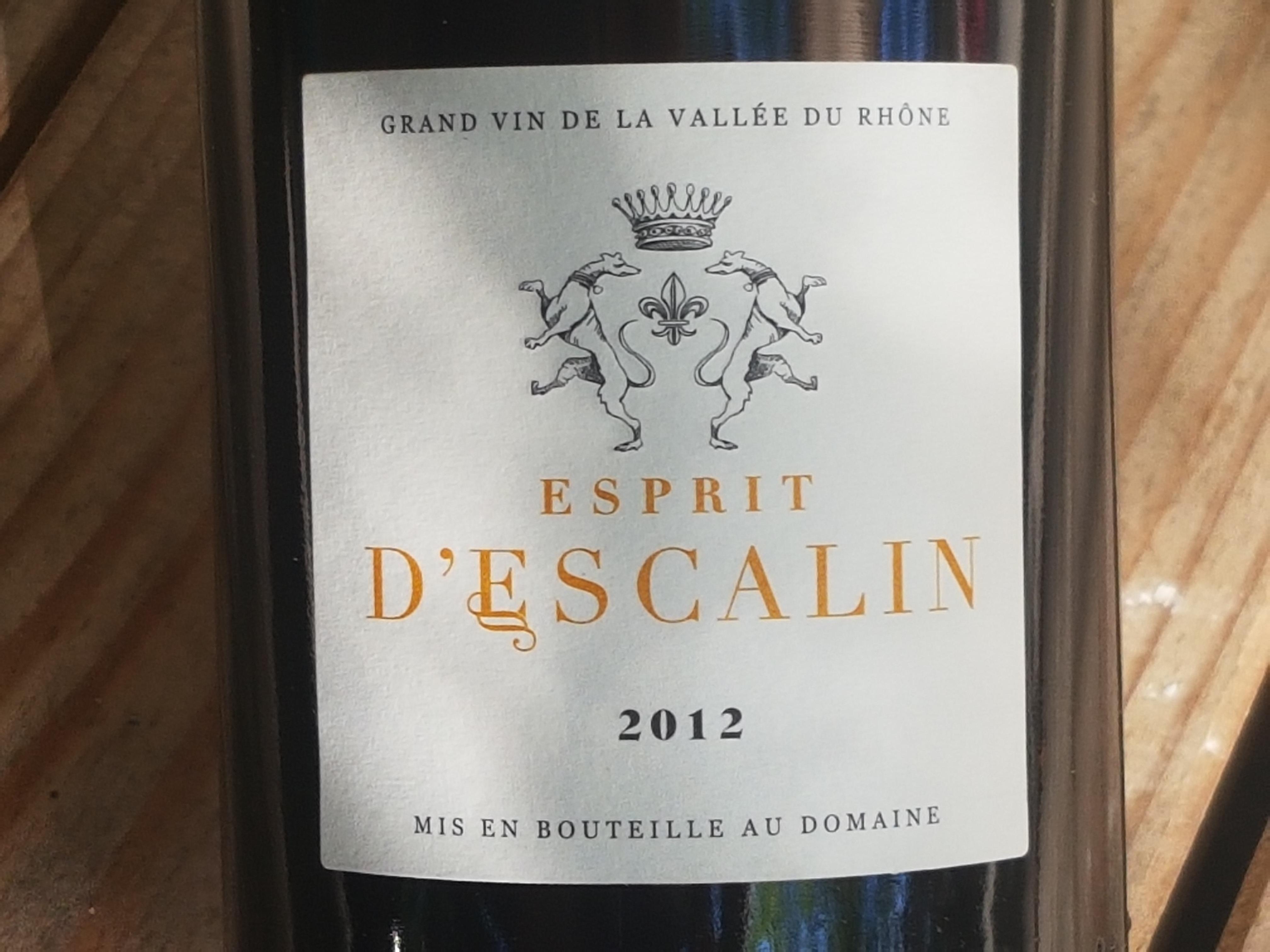 Baron d'Escalin – L'eprit d'Escalin 2012– Grignan-les-Adhémar