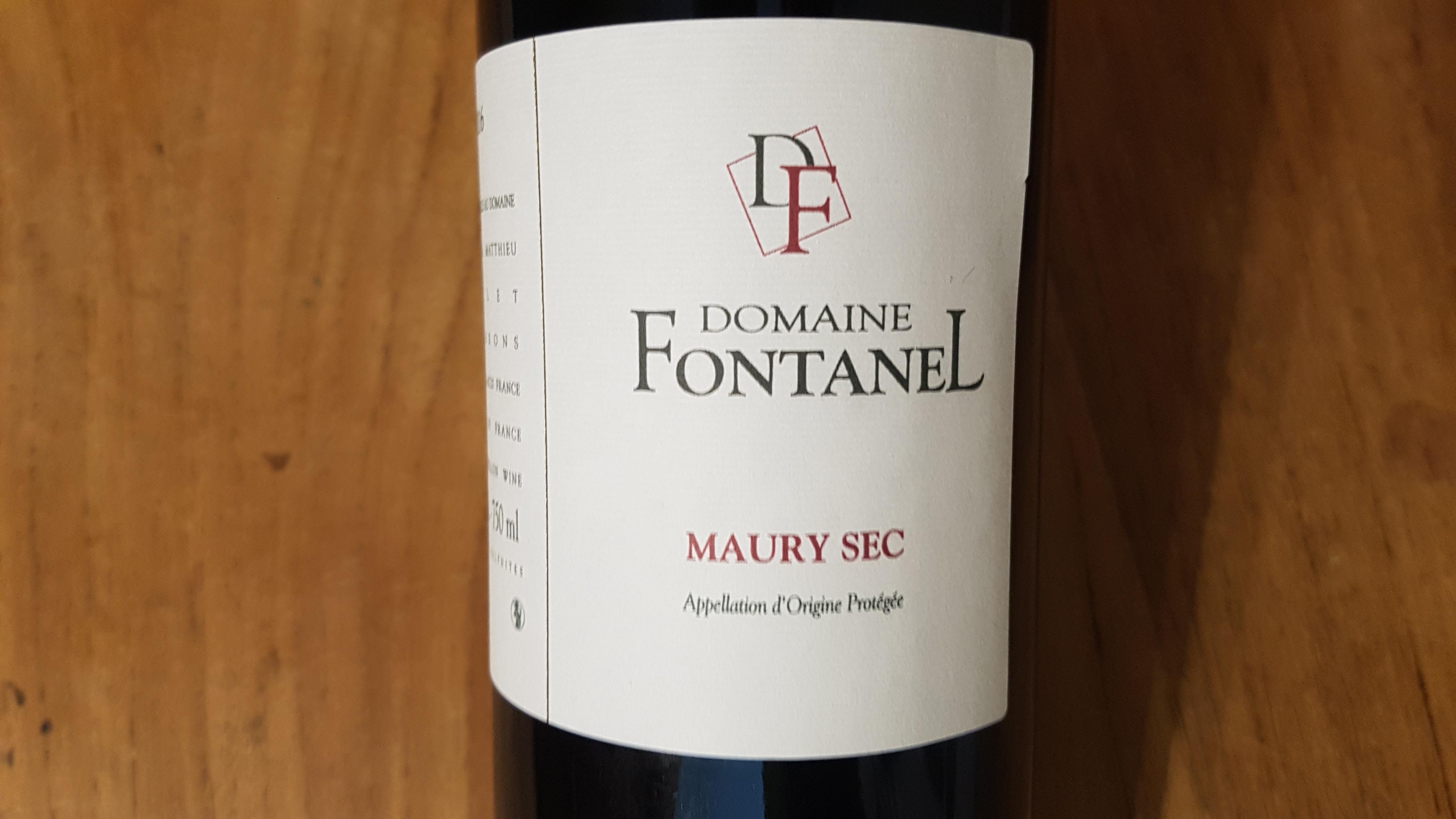 Domaine Fontanel Maury Sec 2016 – Roussillon