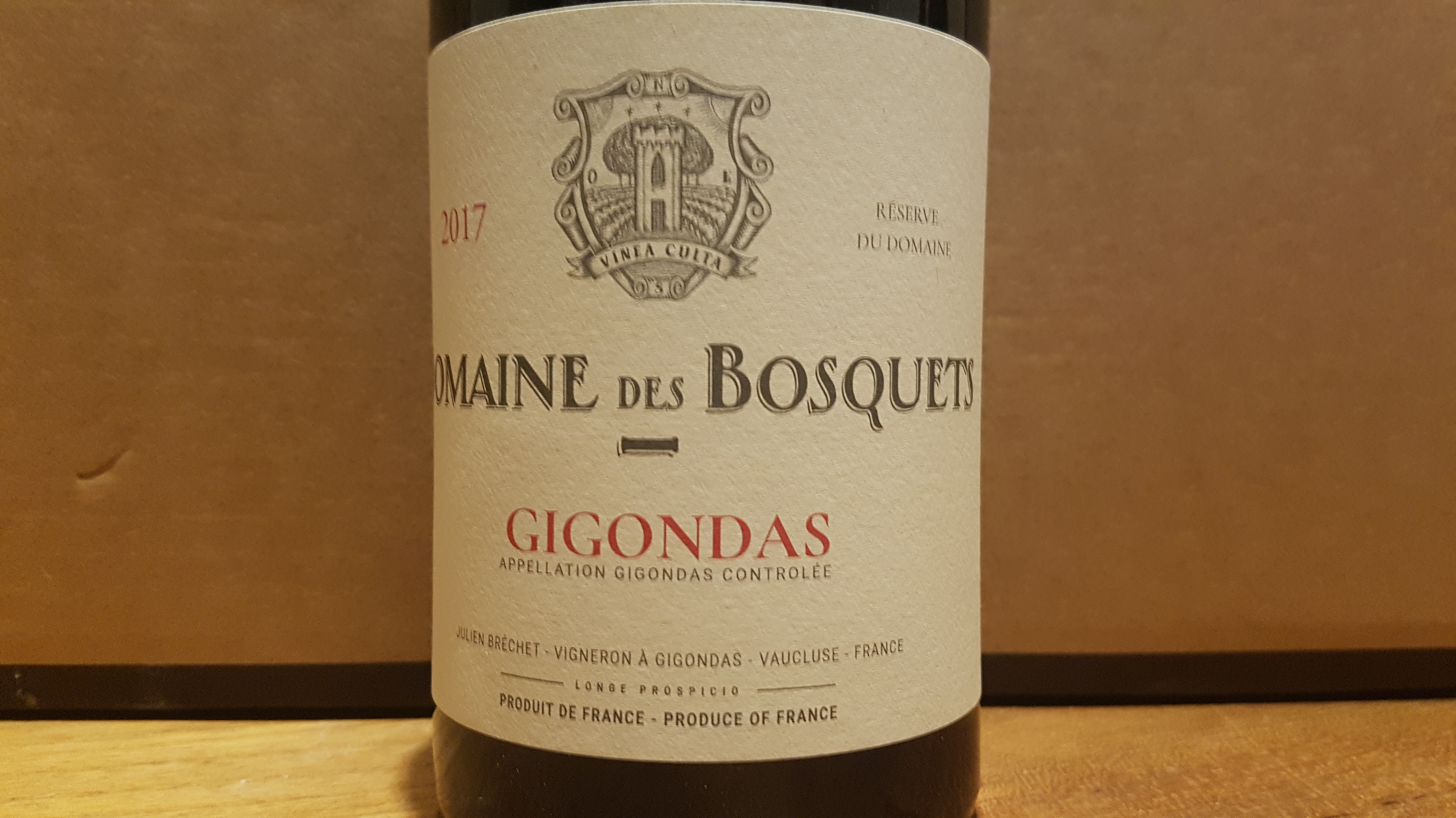 Domaine des Bosquets Réserve du Domaine 2017 – Gigondas Rouge