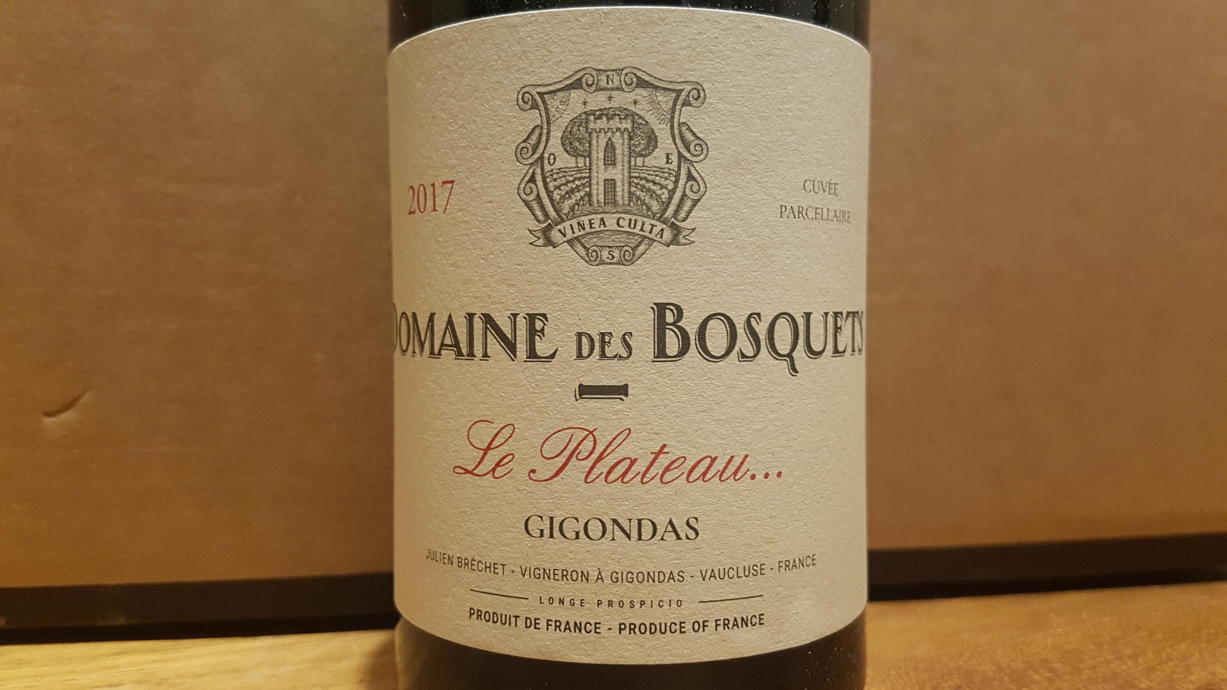 Domaine des Bosquets Le Plateau … 2017 – Gigondas Rouge