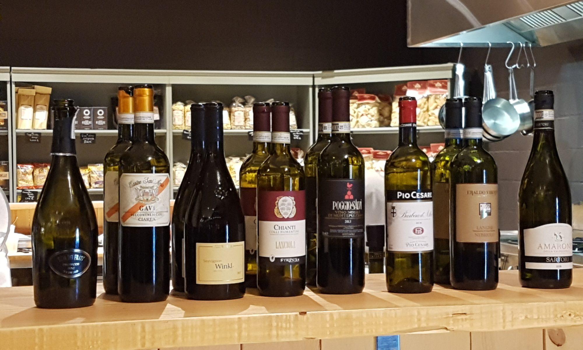 Les vins italiens dégustés le 21 février aux halles à Wavre