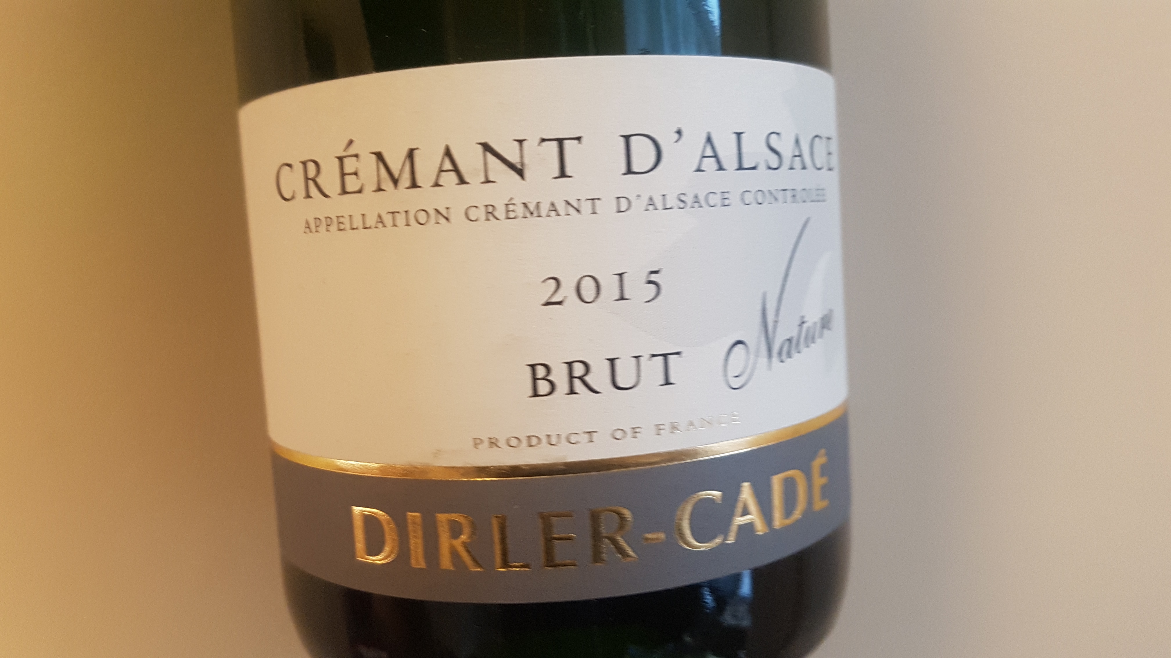 Dirler-Cadé Crémant d'Alsace Brut Nature 2015 – Alsace