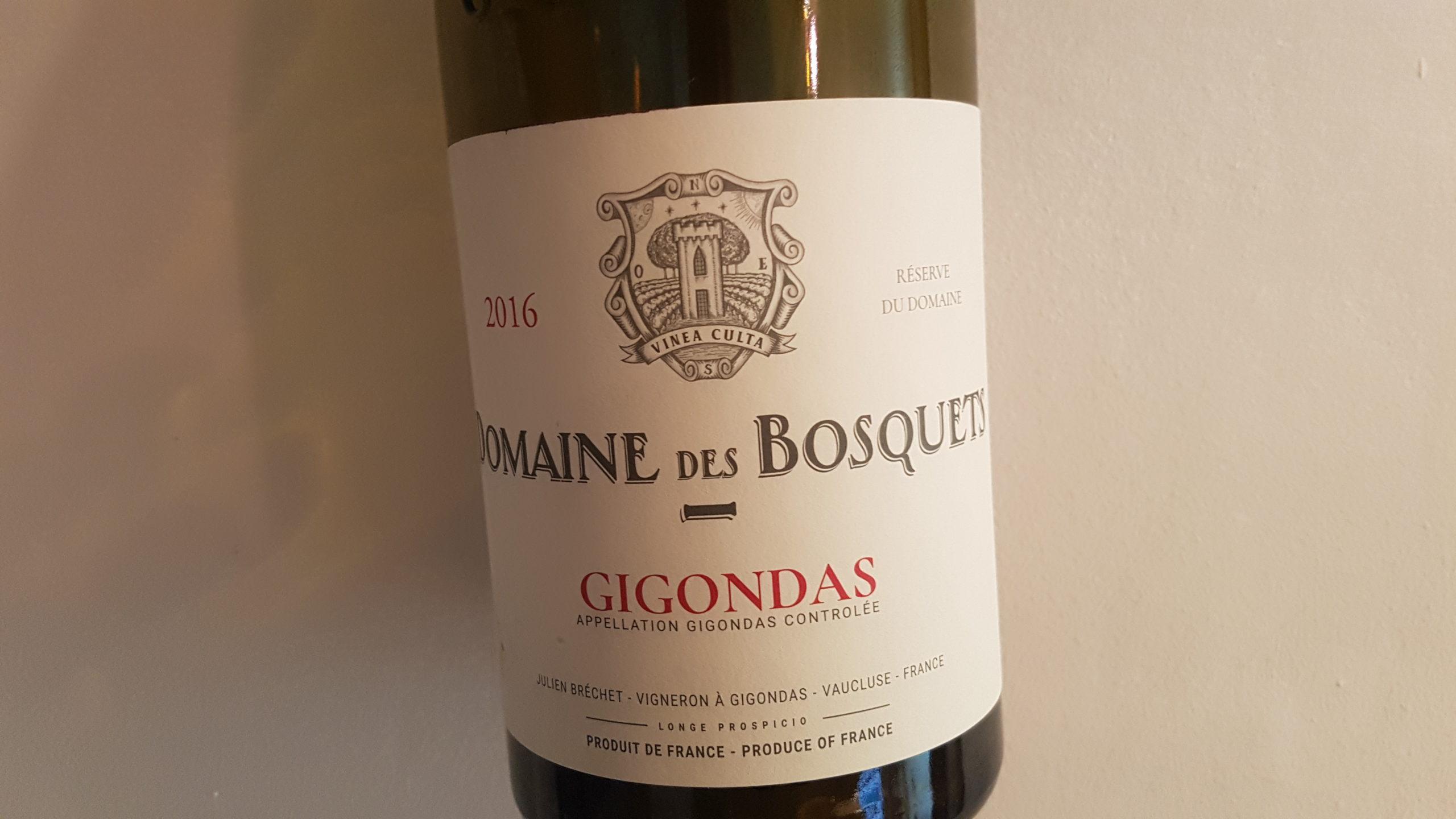 Domaine des Bosquets Réserve du Domaine 2016 – Gigondas Rouge