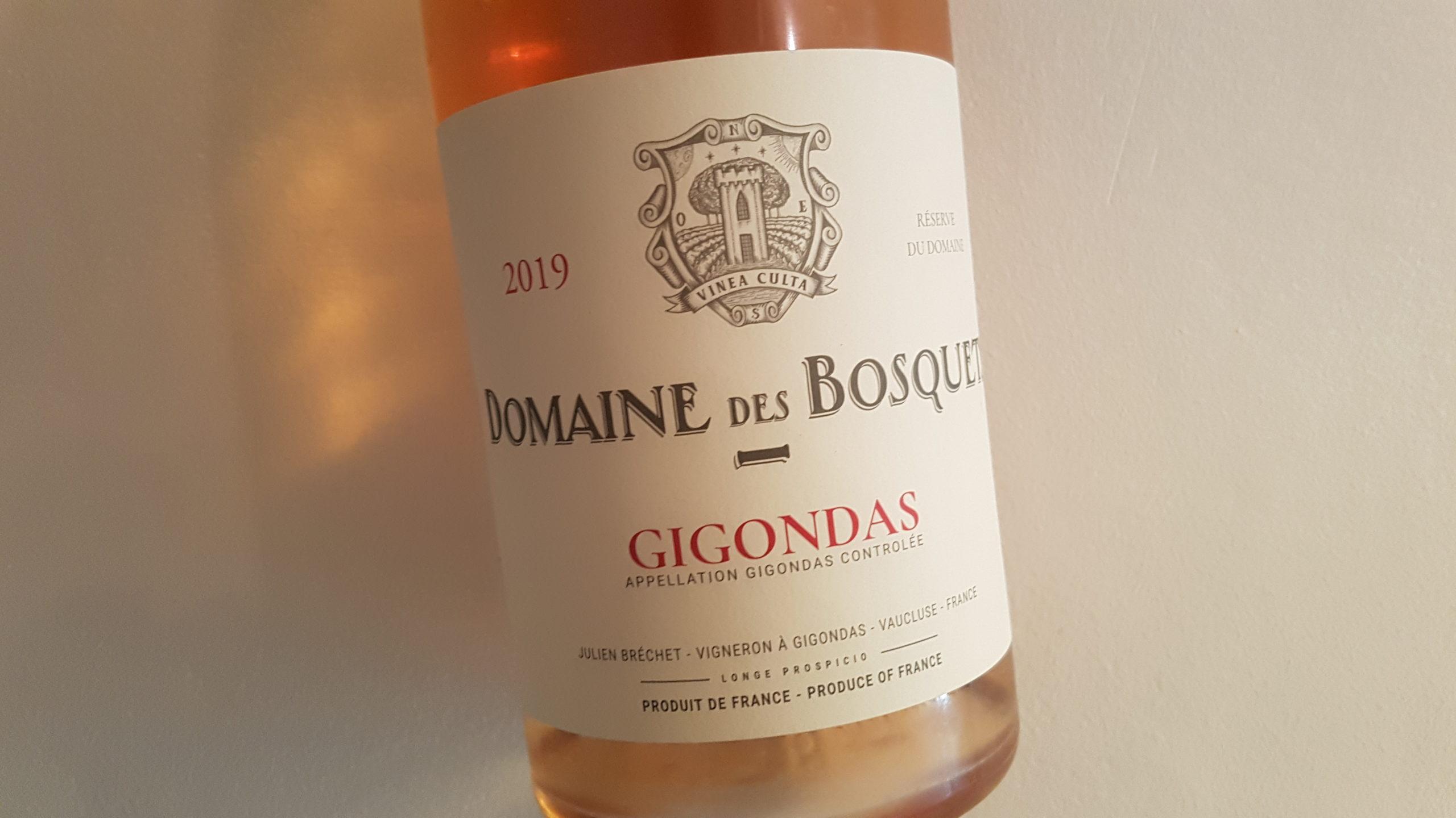Domaine des Bosquets Rosé 2019 – Gigondas Rosé