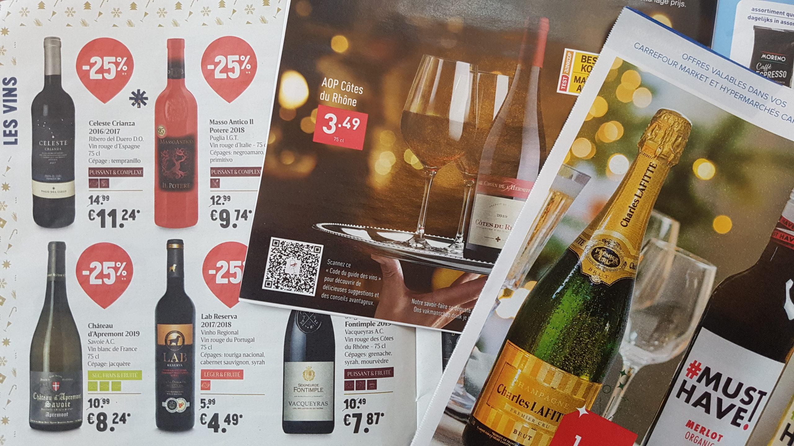Quel vin choisir parmi les offres de vin pour le fêtes des supermarchés ?